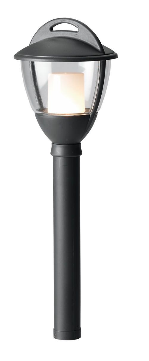 Techmar Laurus 2514061 Plastic Outdoor Garden Post Light Anthracite