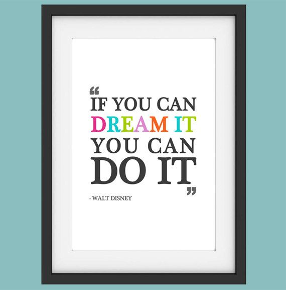 Printable Disney Nursery Inspirational Quote by