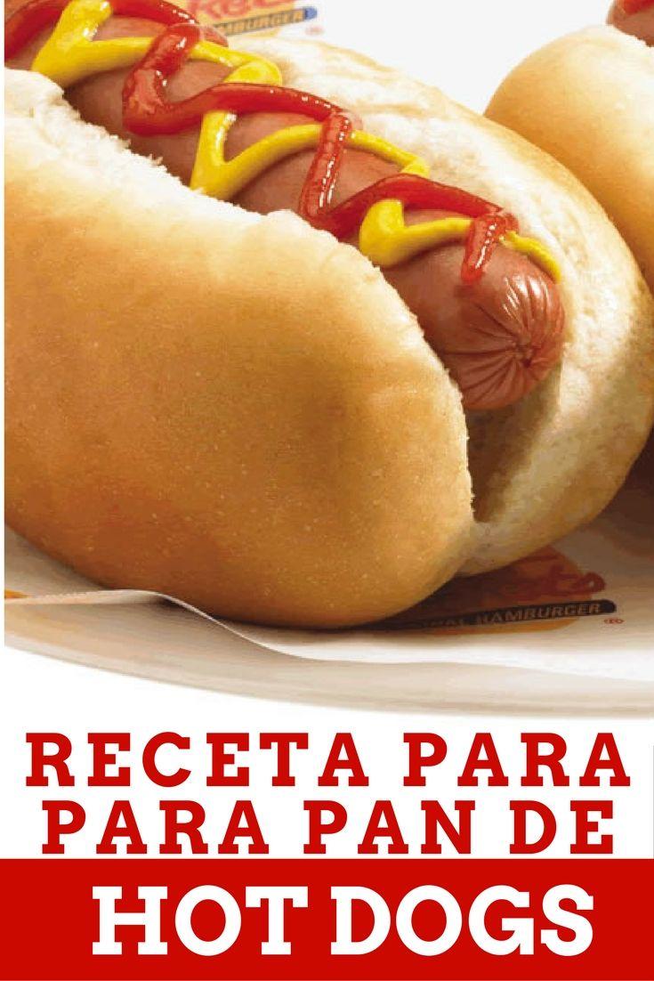 Receta pan hot dog