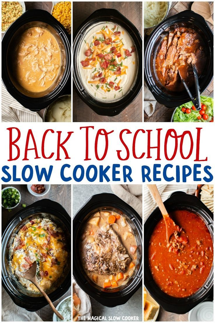 20 Back to School Slow Cooker Dinners #slowcookerrecipes