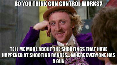 Seriously. The only thing gun control does is control law abiding citizens. Criminals will continue to get them when they want them.