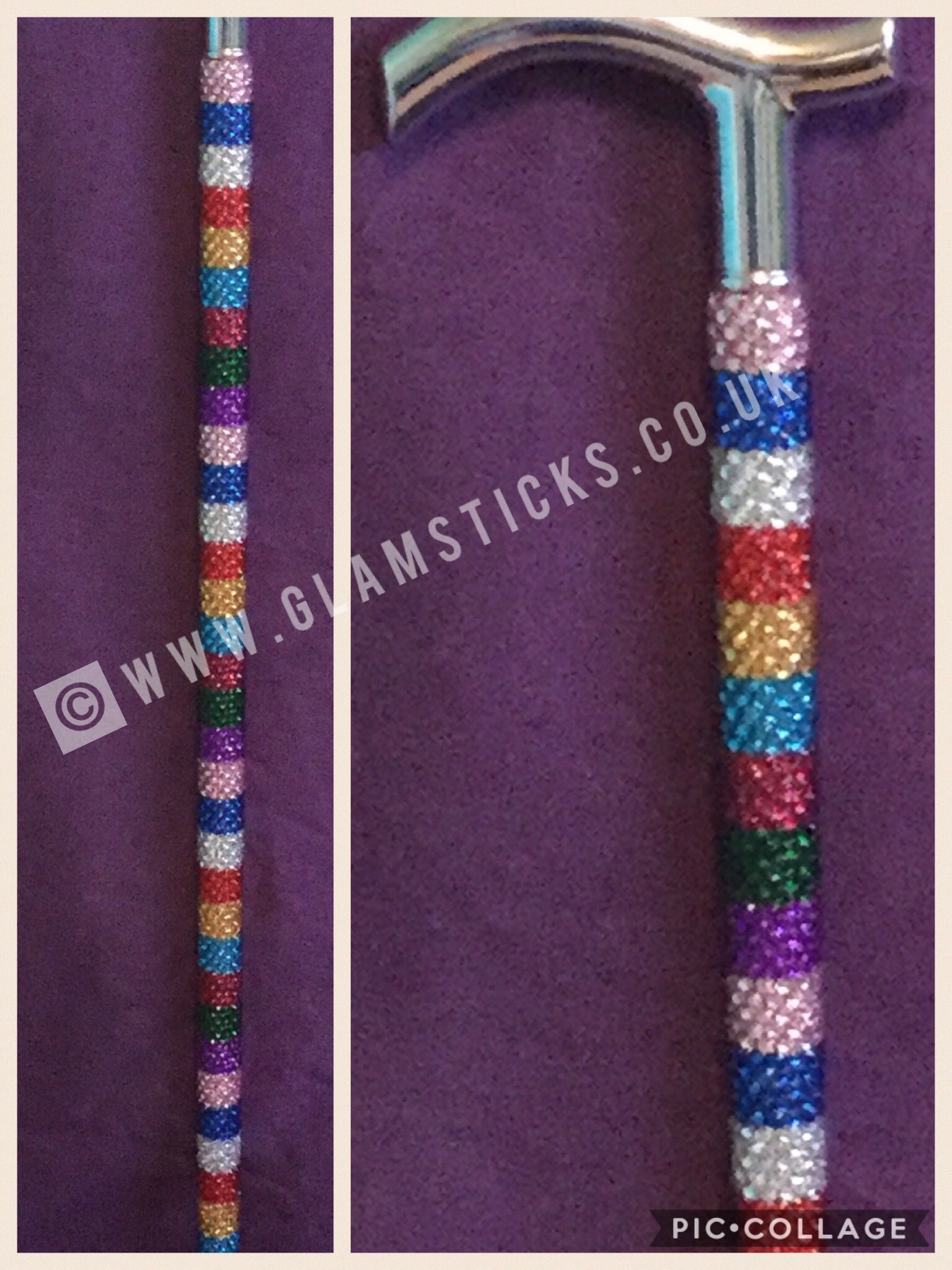 Sparkly Bling Nails: Sparkly Rhinestone Bling Walking Stick By Glamsticks, With