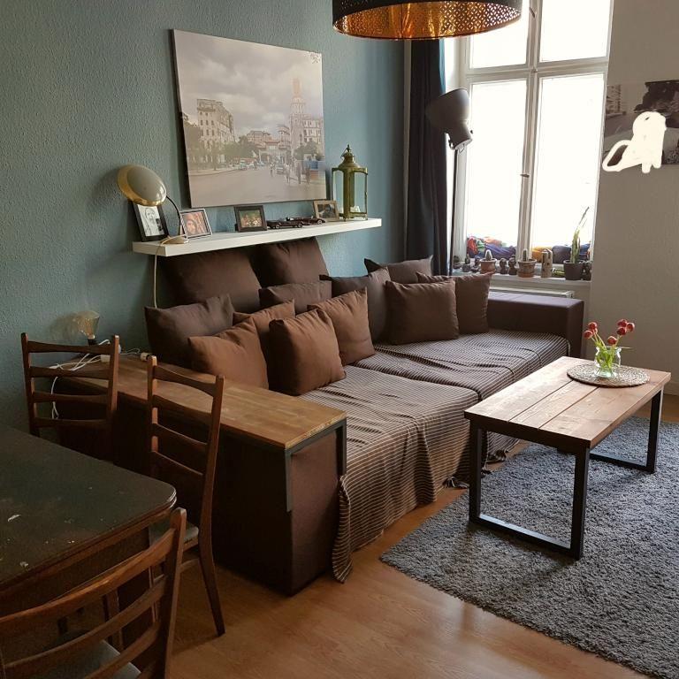 Wohnzimmer Gemutlich Braun | Riesige Sofalandschaft In Schonem Schoko Braun Sorgt Fur Gemutliche