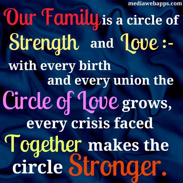 Our family is a circle of strength and love with every birth