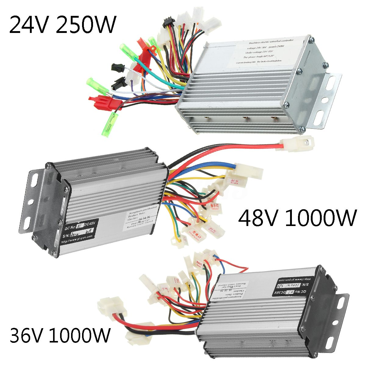 24v electric bike controller wiring diagram 1984 chevy c10 36v 48v 250w 1000w scooter speed