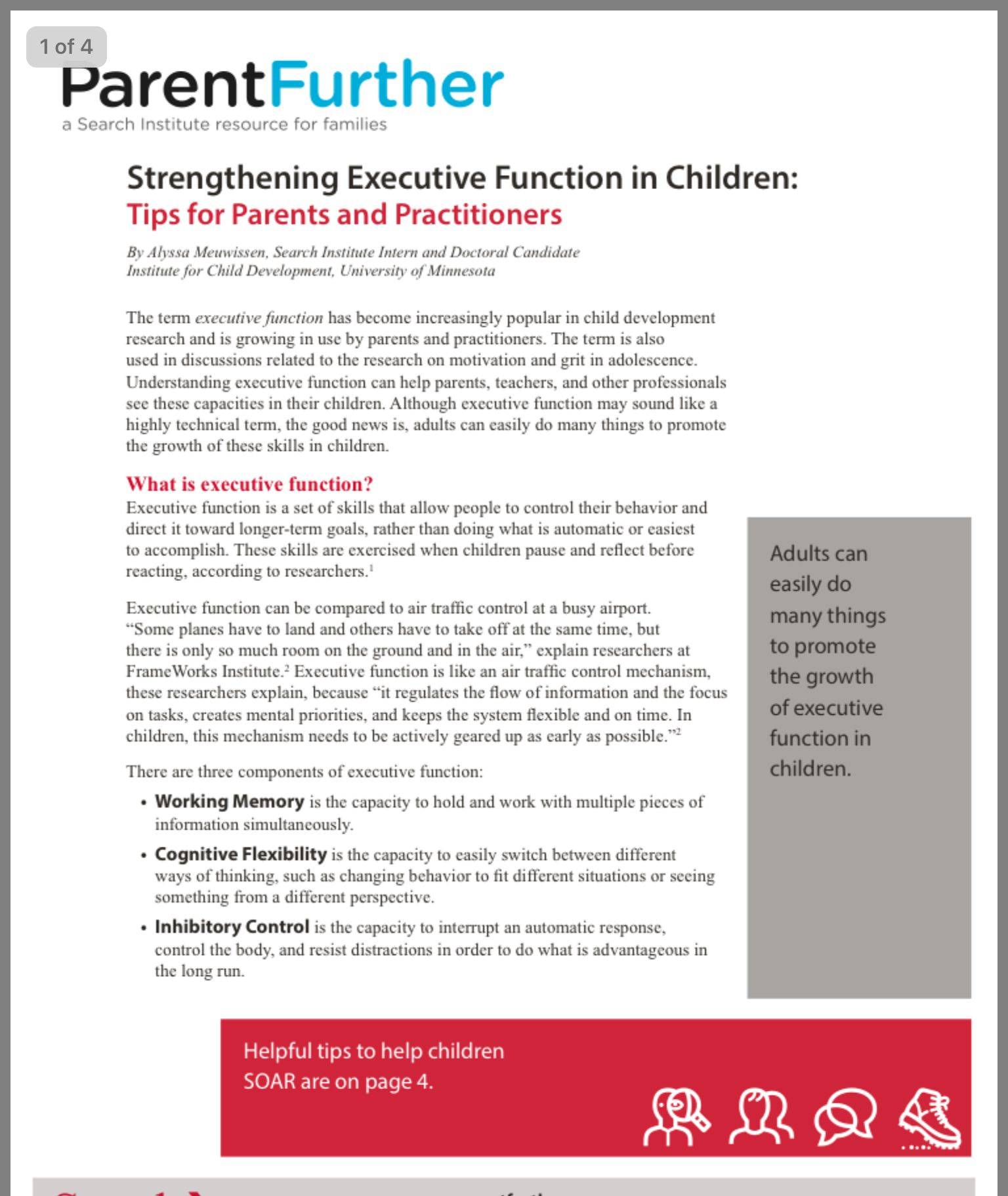 Strengthening Executive Function >> Pin By Laura On Executive Function Search Institute Executive