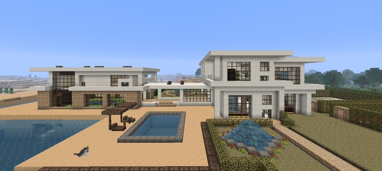 Minecraft beach house large modern beach house minecraft for Modern house projects