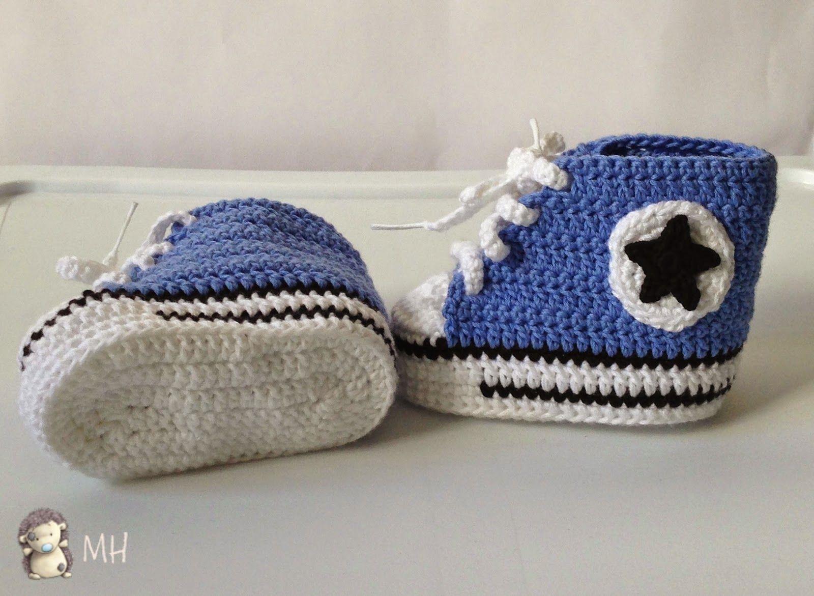 Converse a crochet para bebé   AMIGURUMIS Patrones Español ...