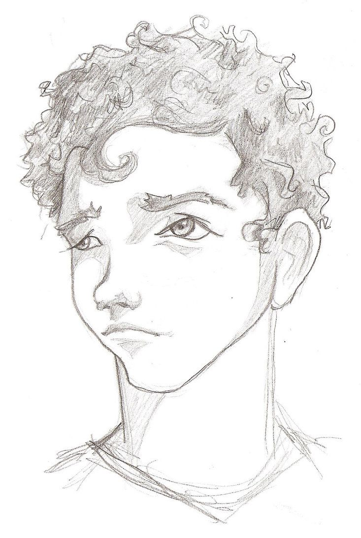 Curly Head Boy By Madizr Deviantart Com On Deviantart Boy Hair Drawing Anime Curly Hair Curly Hair Drawing