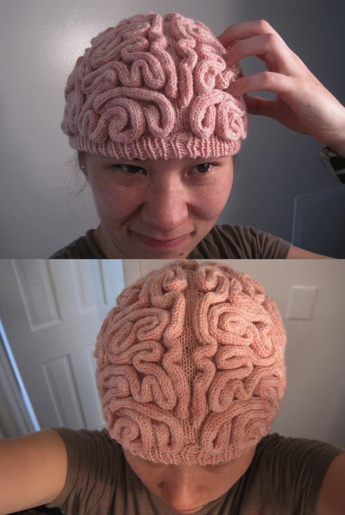 brain hat.