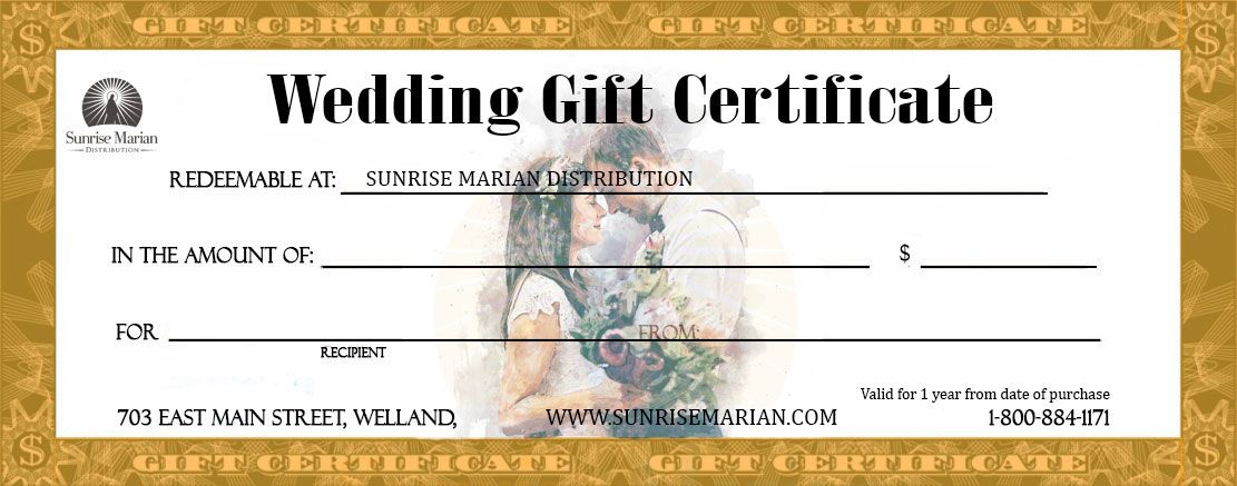 Catholic Wedding Gift Certificate Beautiful Wedding Gift Wedding Gifts Catholic Wedding Gifts