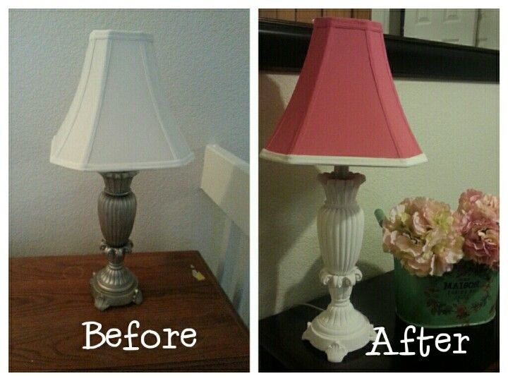 Repurposed Lamp Base Shade Mixed Emperors Silk Pure Annie Sloan Chalk Paint To Get A Beautiful Mauve Base Paint Repurposed Lamp Diy Home Decor Home Decor