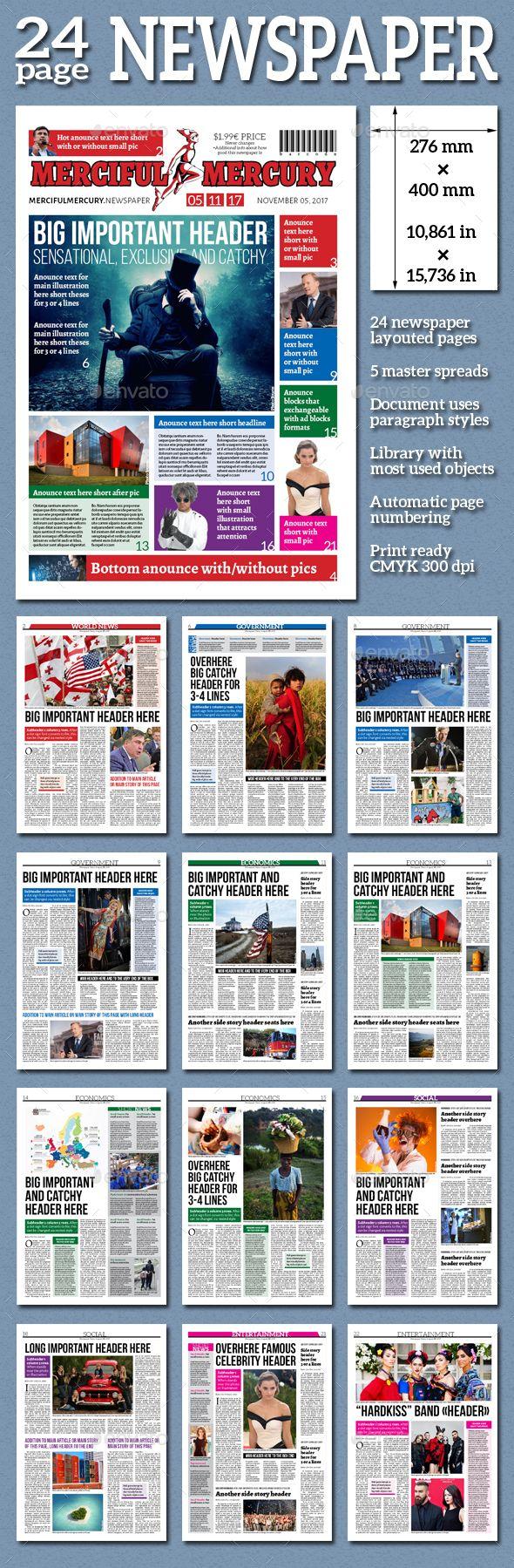 Daily Newspaper | Diseño editorial, Diseño de periódicos y Editorial