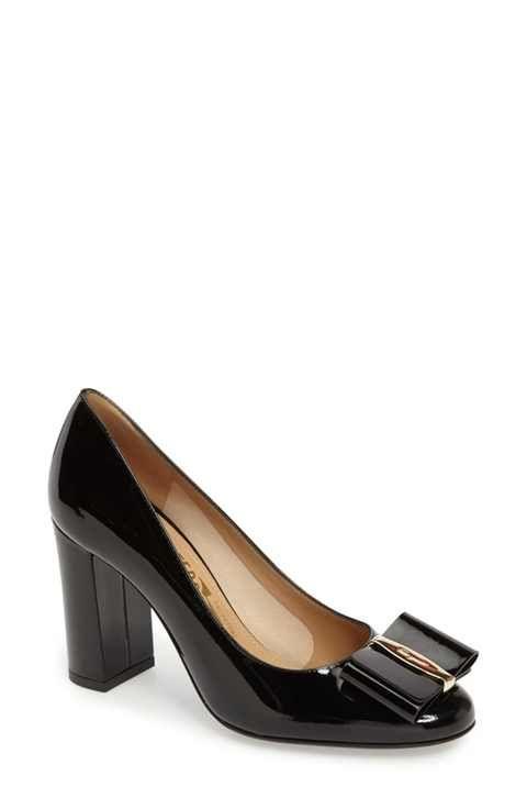 Salvatore Ferragamo Elinda Block Heel Pump (Women)  9dcf3824411df