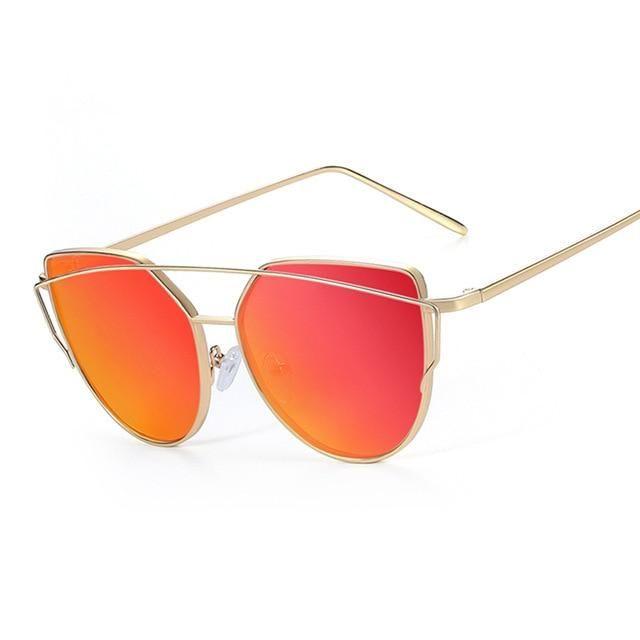 Photo of Cat eye Mirror Flat Rose Sunglasses