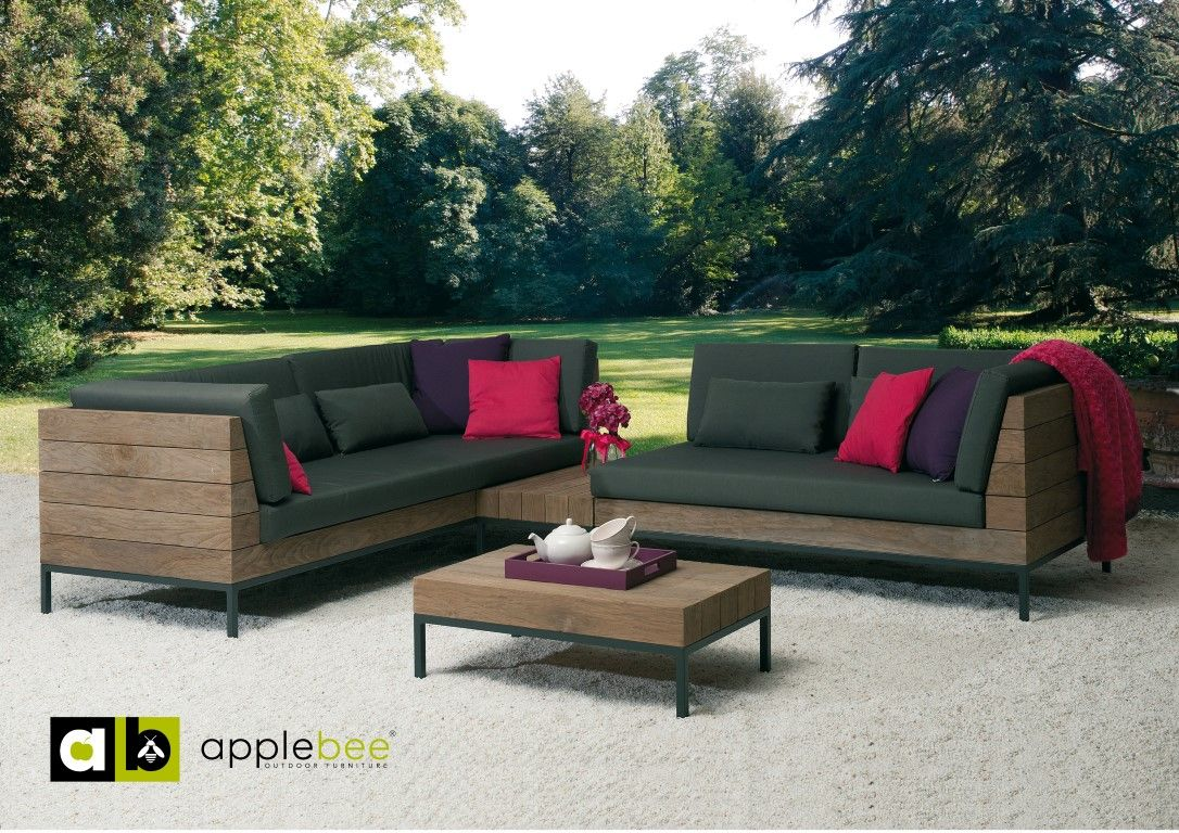 Tuin Loungeset Outlet : De long island loungeset van apple bee met zijn strakke design zorgt