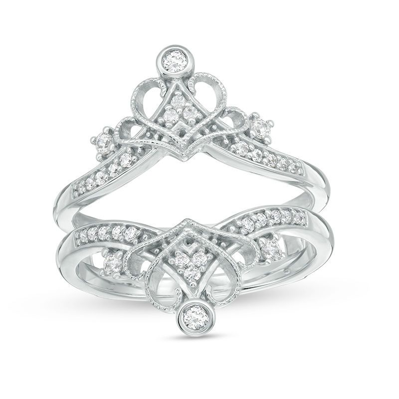 14 ct tw diamond vintagestyle crown ring solitaire
