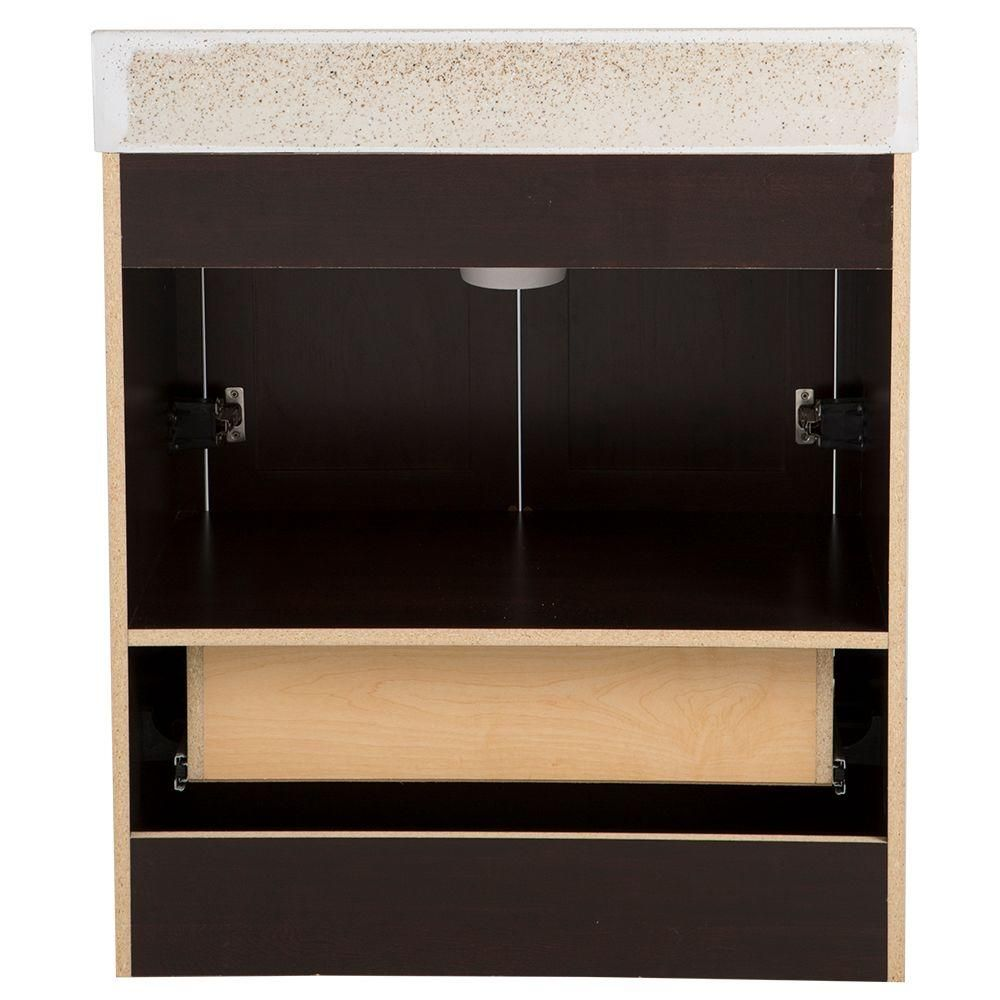 Waschbecken Caramel Glacier Bay Delridge 31 In W X 19 In D Bathroom Vanity In
