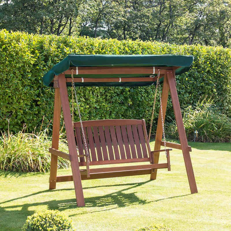 Jakarta Wooden Hammock   Relax In Comfort And Style With This Solid Wood  Garden Hammock