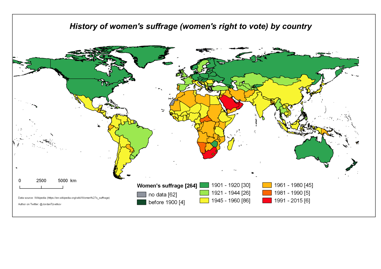 History of women s suffrage women s right to vote by country