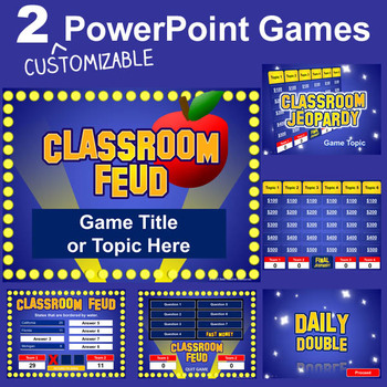 Smartboard Jeopardy Template Powerpoint Games Pack Customizable