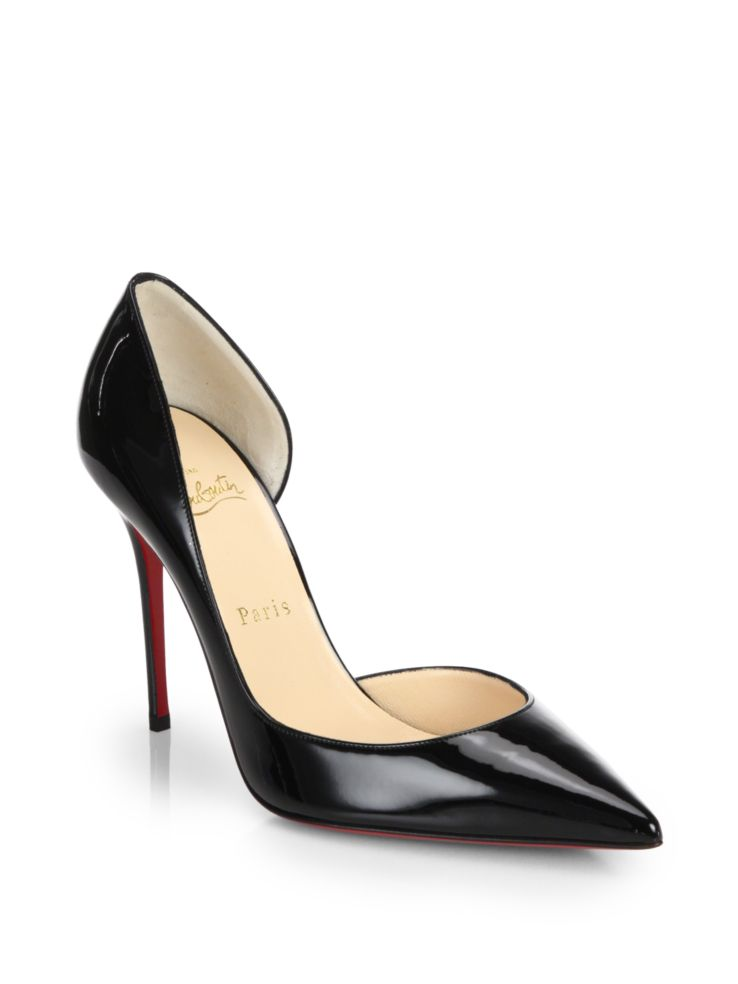 b7d7c2a698 Christian Louboutin Iriza Patent Leather Half D'Orsay Pumps Women Size  39.5EU