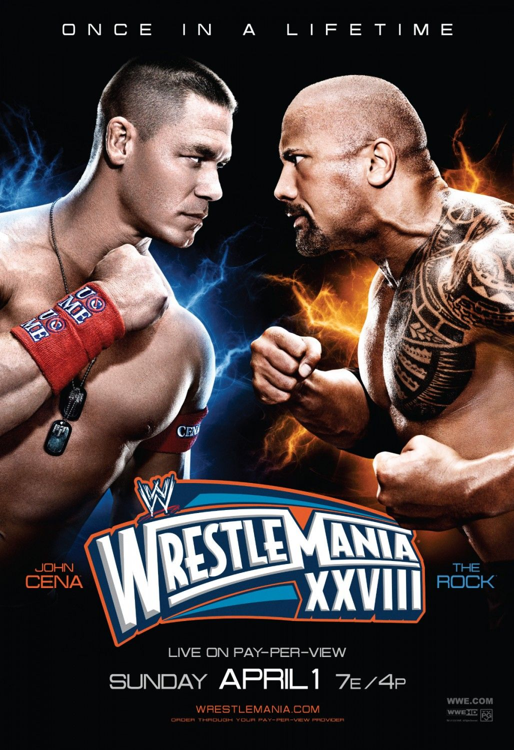 Wrestlemania 28 John Cena Vs The Rock Fight Posters Fan Made Or