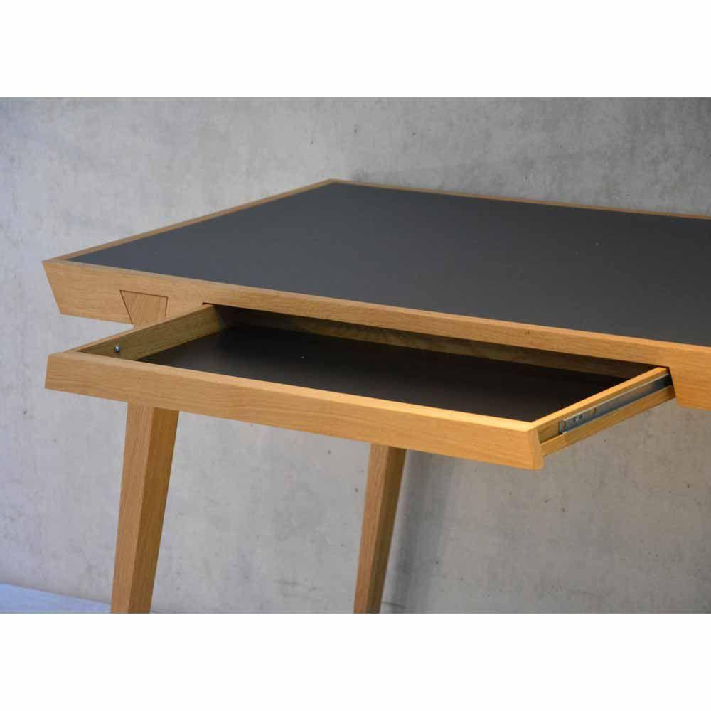 Schreibtisch Aus Massiver Eiche Jankurtz Bei Milanari Com