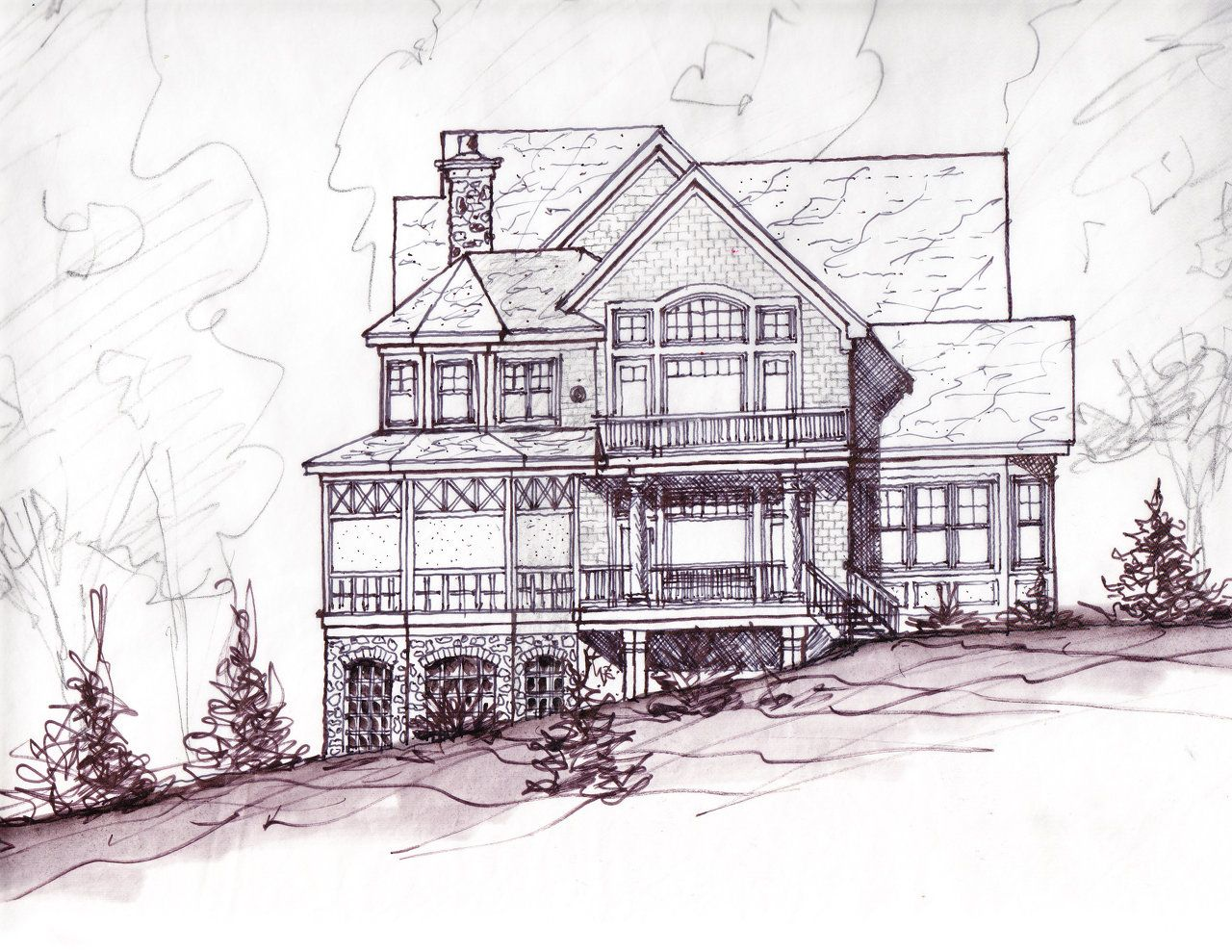 Front Elevation Of House SKETCH | Elevation Sketch There Are A Variety Of Elevation Sketches ...