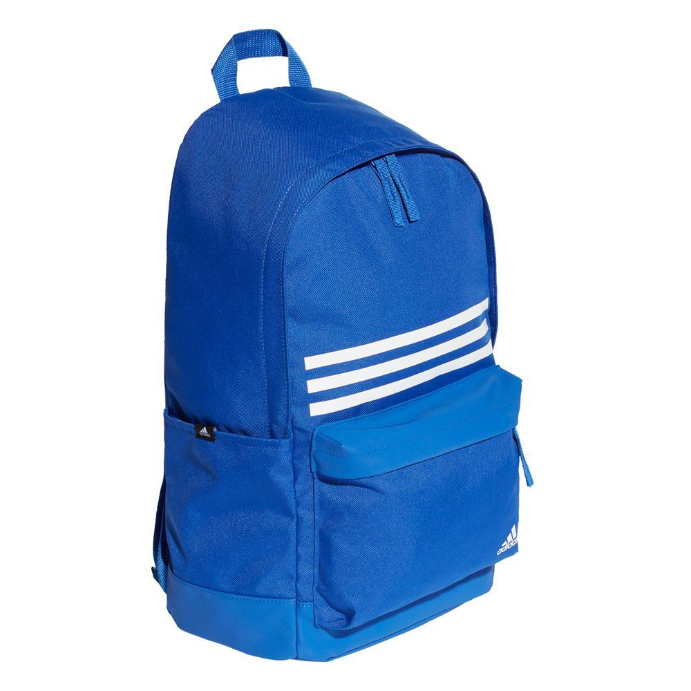 057cb597c9d Adidas UK Adidas Classic 3 Stripe Pocket Backpack (dt2618) in Blue/White