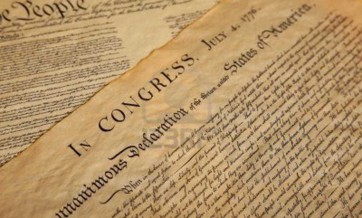 1776 Declaration of Independence drafted on Hemp paper