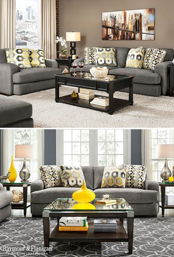 Revive The Look Of Your Living Room With The New Alexa Collection Which Features A Trendset Trendy Living Rooms Yellow Curtains Living Room Yellow Living Room