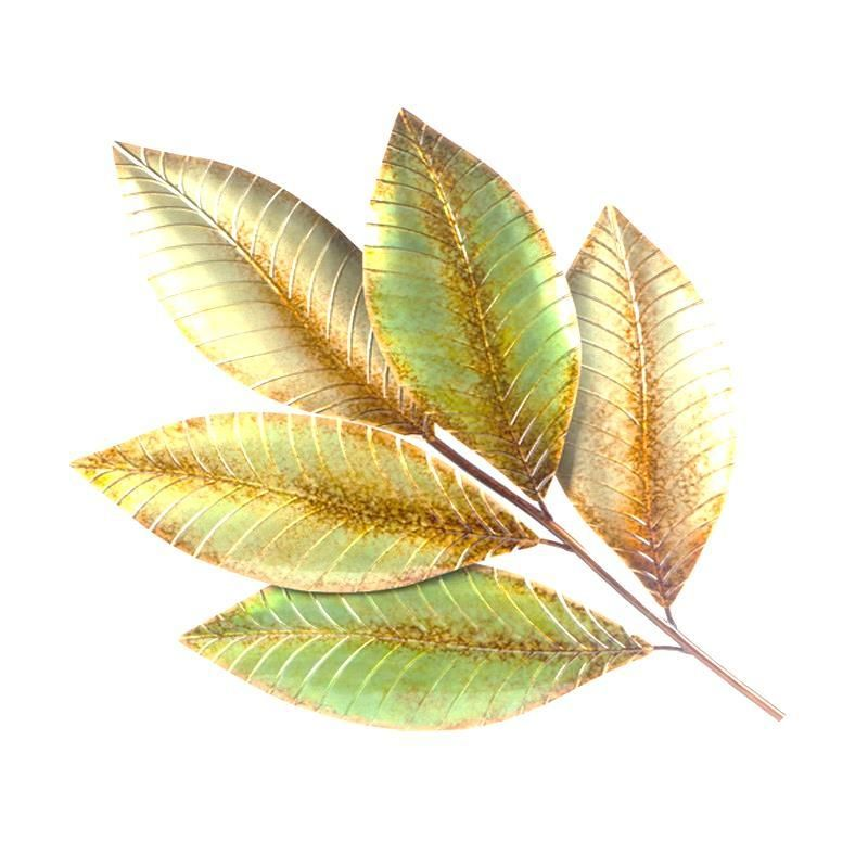 This Large Single Leaf Metal Wall Art is an attractive feature to ...