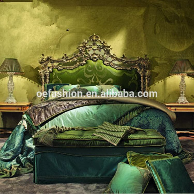 Oe Fashion Luxury Green Bedroom Furniture Made In Vietnam Wooden With Canophy Bed View