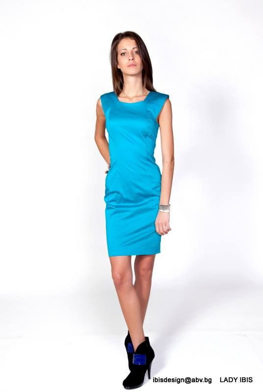 7c685727956 Elegant blue  turquoise woman dress