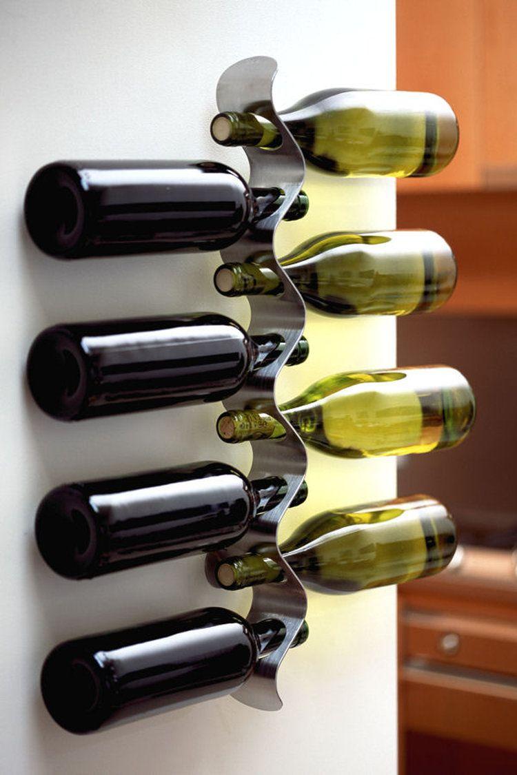 Support A Bouteille De Vin Mural un porte-bouteille design | porte bouteille design, porte