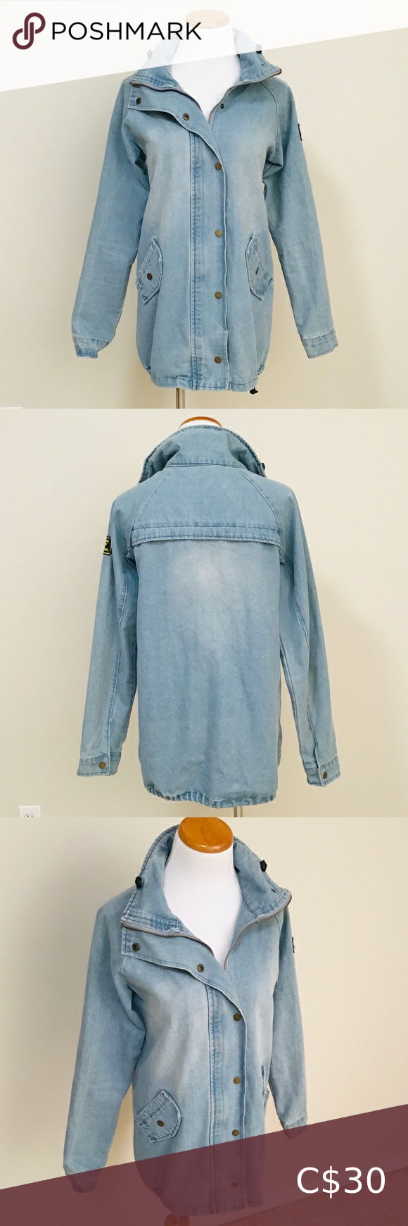 ZAFUL Light Wash Boyfriend Fit Denim Jacket#boyfriend #denim #fit #jacket #light #wash #zaful
