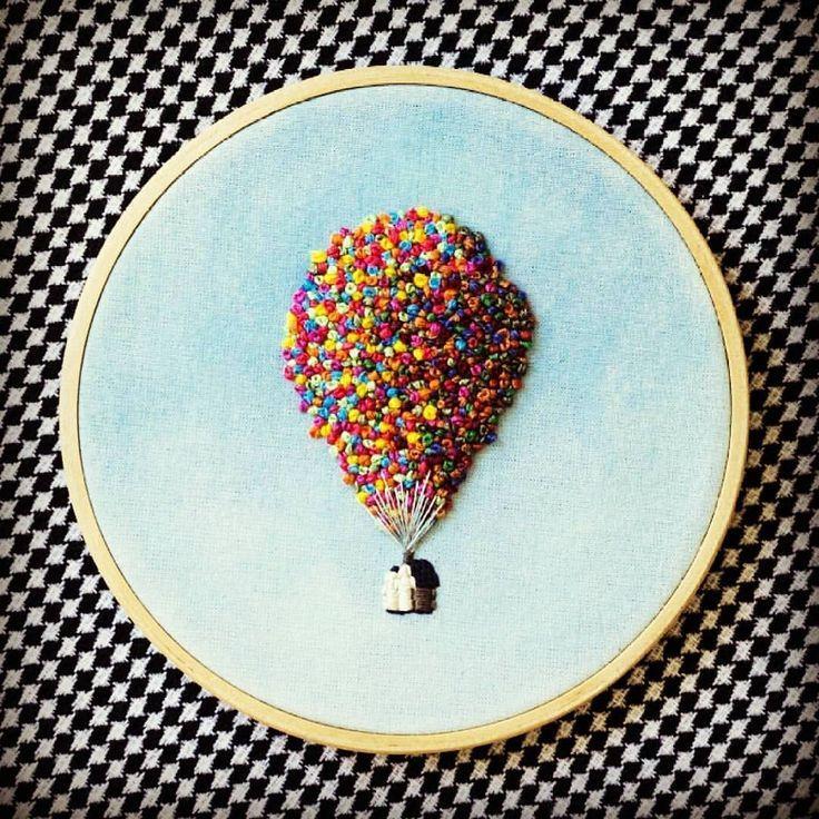 Yapımı çok kolay, görünüşü muhteşem 💕 . . . . . . .  Credits to its owner . #baloon #balon #up #rengarenk #colorista #art #embrodiery…