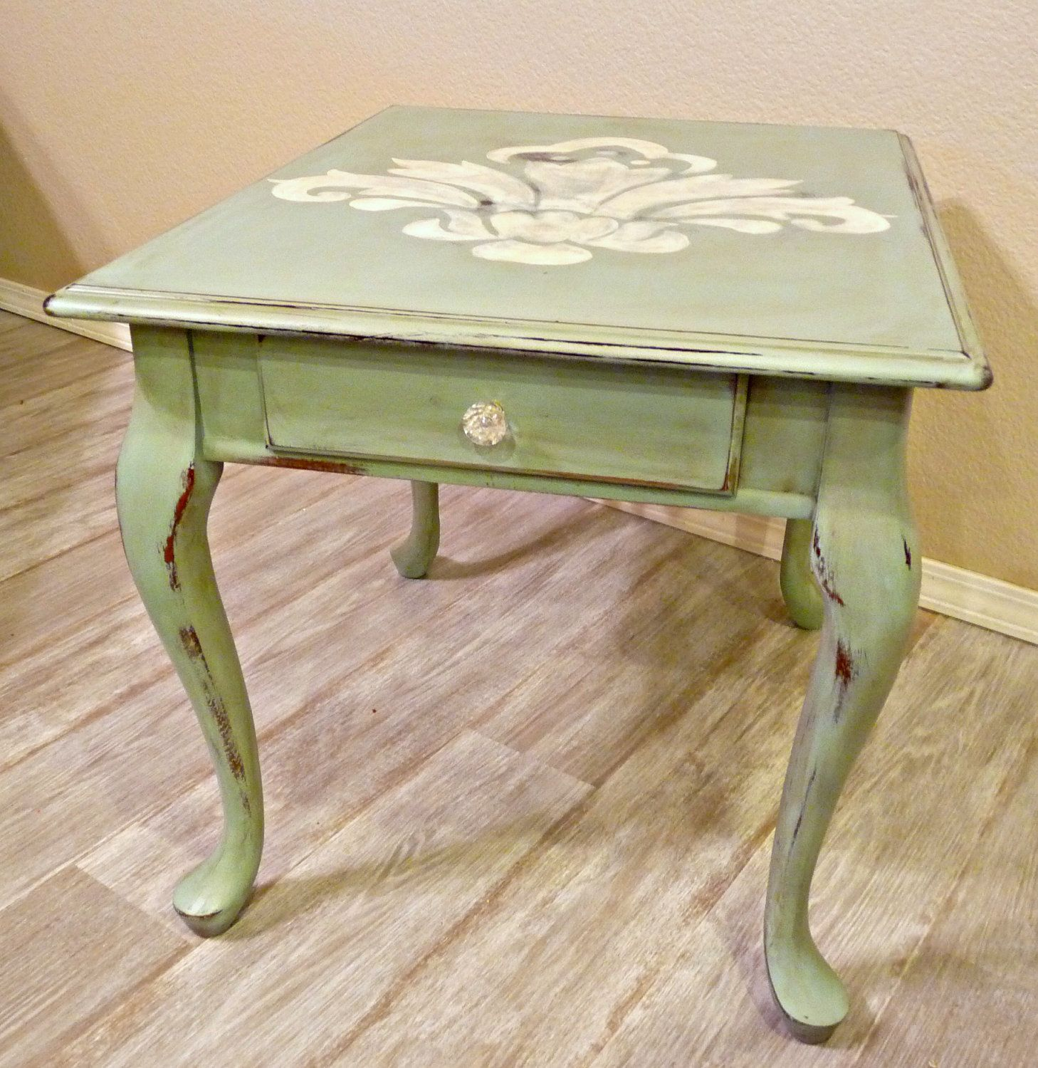 Looking For A Queen Ann Table To Transform Into This Shabby Chic Treasure I Like The Huge Fleur Shabby Chic Side Table Coffee Table Legs Coffee And End Tables