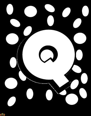 Color the Letter Q