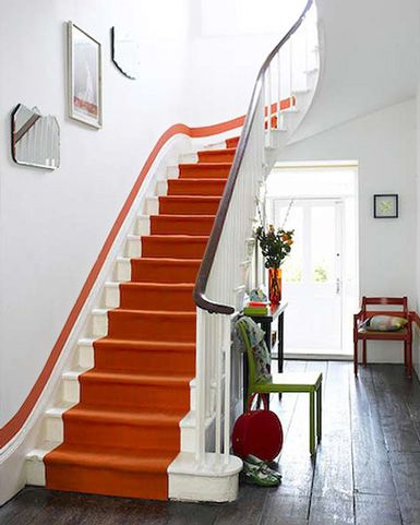 Fresh White Painted Stairs
