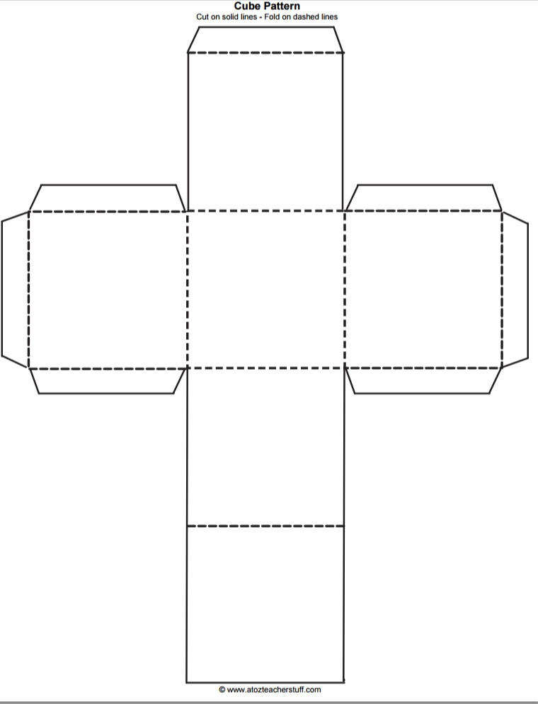 Cube Outline Free Printable | teaching: free printables ...