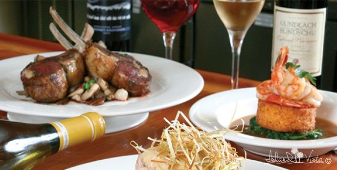 Enjoy Fine Cuisine in the Oceanfront Cypress Room at the Island Vista Resort - 6000 North Ocean Blvd. Myrtle Beach, South Carolina 29577
