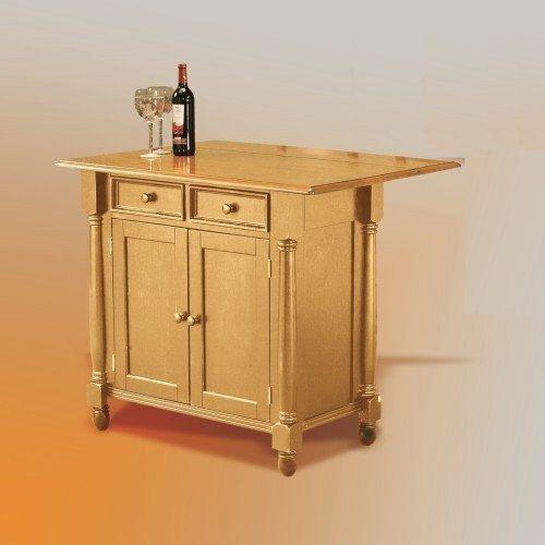 Luxury Kitchen island Cart with Drop Leaf