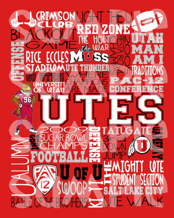 University Of Utah Utes Subway Art Utes Football By Lilwordshop 10 00 Utah Utes Football Utes Football University Of Utah