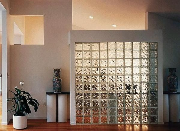 Partion wall with glass blocks home design ideas glass - Glass block windows in living room ...