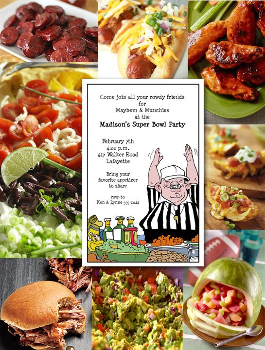 Super Bowl Party Invitations and Favorite Foods – Superbowl Party Invite