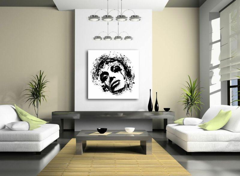 Moderne Wandgestaltung Im Wohnzimmer Kunstwerk