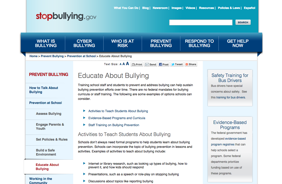 Ideas for educating school and classroom on bullying How to inform students about cyber bullying