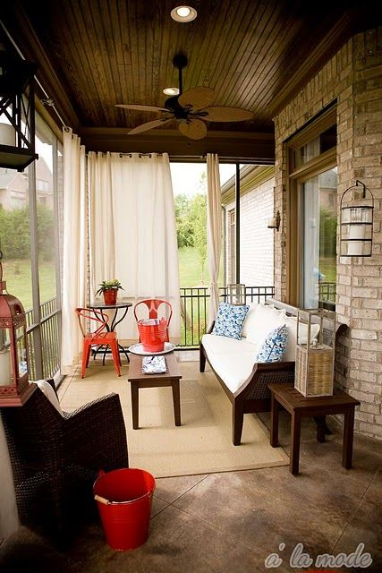 screened porch sheer curtains. I So Love The Sheer Drapes On Screened In Porch. Totally Doing This, Porch Curtains